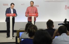 Caballero y Gómez de Celis, en rueda de prensa.