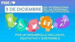 Manifiesto del PSOE con motivo del Día Internacional de las personas con discapacidad