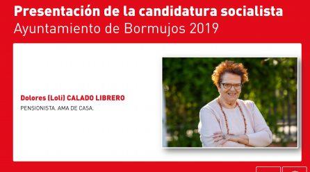 TU CANDIDATURA: LOLI CALADO. LEALTAD Y CONVICCIÓN SOCIALISTA.