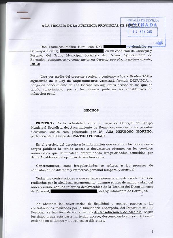 DENUNCIA FISCALÍA 14-11-2014