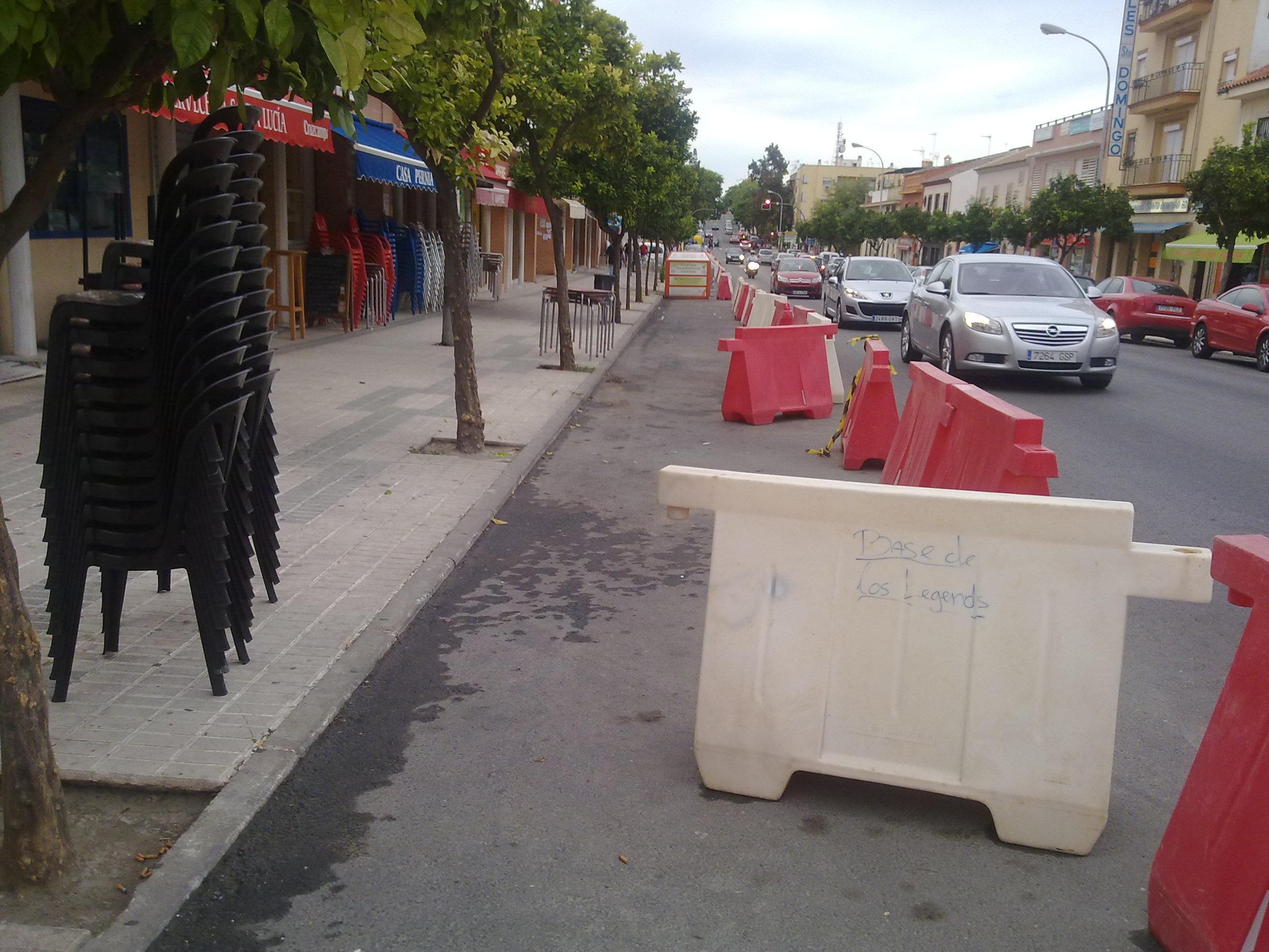 La alcaldesa inhabilita 35 aparcamientos